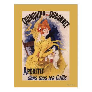 Quinquina Dubonnet Aperitif Promotional Poster Postcard