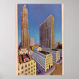 Quinta Avenida 1940 de New York City, Nueva York Poster