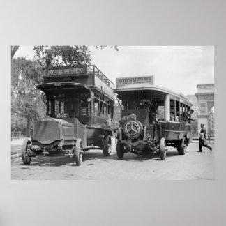 Quinta Avenida Buses, 1913 Póster