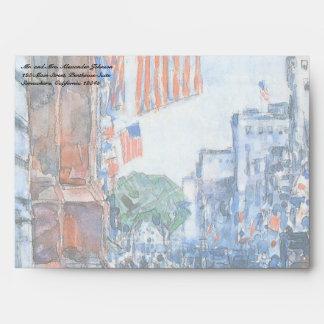 Quinta Avenida de las banderas de Childe Hassam, Sobre