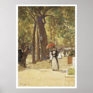 Quinta Avenida en el cuadrado de Washington, 1891 Póster