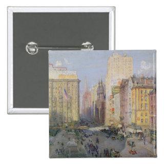 Quinta Avenida, Nueva York, 1913 Pin Cuadrado