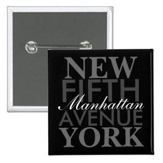 Quinta Avenida Nueva York Pin Cuadrado