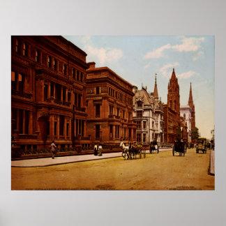 Quinta Avenida NYC Photo-Print (1900) del vintage Póster
