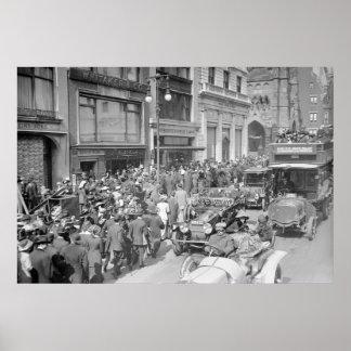 Quinta Avenida, pascua domingo, 1913 Póster