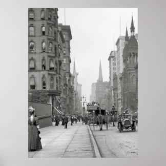 Quinta Avenida Photograph (1912) del vintage Póster