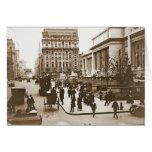 Quinta Avenida y biblioteca pública 1908 de New Tarjeta De Felicitación