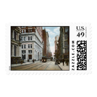 Quinta avenida. y sello de madera de la calle