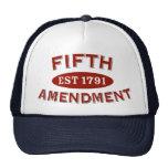 Quinta enmienda Est 1791 Gorros Bordados