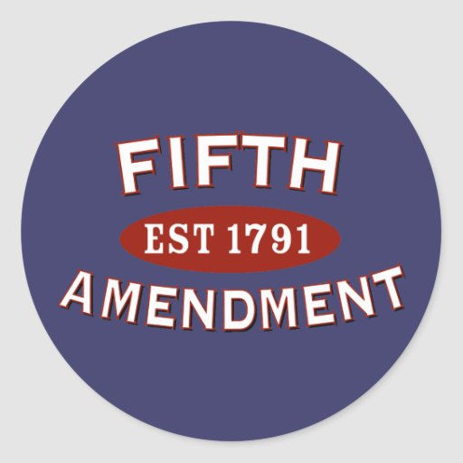 Quinta enmienda Est 1791 Etiqueta