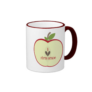 Quinta taza del profesor del grado - Apple rojo me
