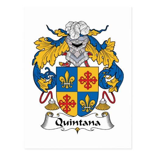 Quintana Family Crest Postcard