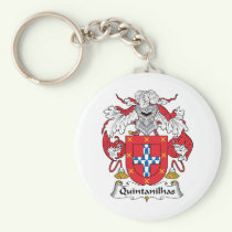 Quintanilhas Family Crest Keychain