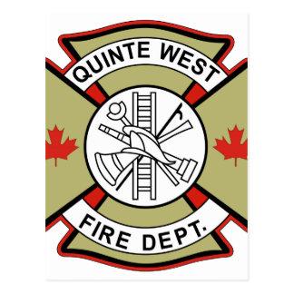 QUINTE WEST FIRE DEPARTMENT POSTCARD