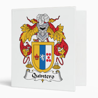 Quintero Family Crest 3 Ring Binders