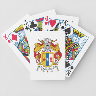 Quintero Family Crest Bicycle Poker Cards