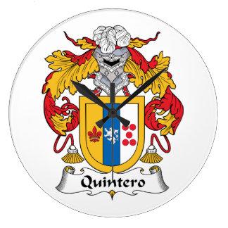 Quintero Family Crest Clocks