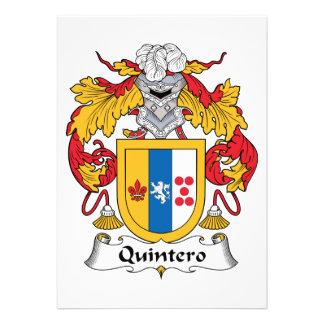 Quintero Family Crest Custom Invites