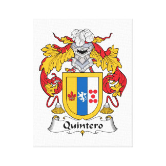Quintero Family Crest Gallery Wrapped Canvas