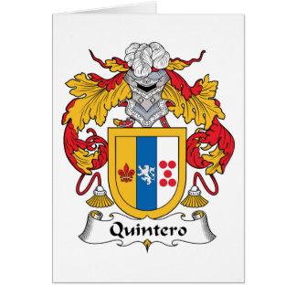 Quintero Family Crest Greeting Cards