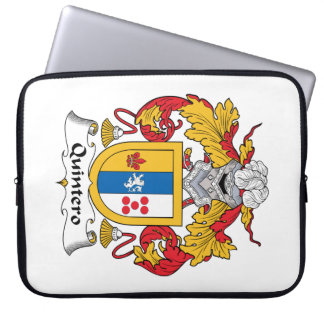 Quintero Family Crest Laptop Sleeves