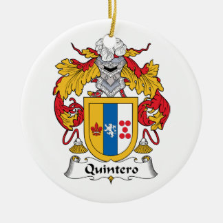Quintero Family Crest Ornaments