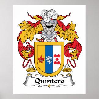 Quintero Family Crest Posters