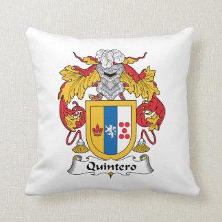 Quintero Family Crest Throw Pillows