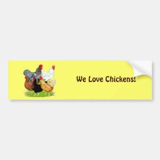 quinteto Sexo-ligado de los pollos Pegatina Para Auto