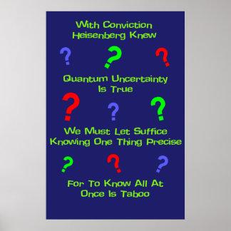 Quintilla de la incertidumbre de Quantum Póster