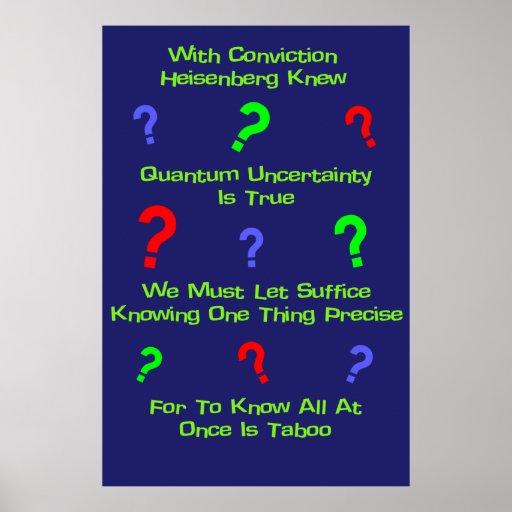 Quintilla de la incertidumbre de Quantum Poster