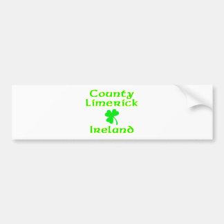 Quintilla del condado Irlanda Etiqueta De Parachoque