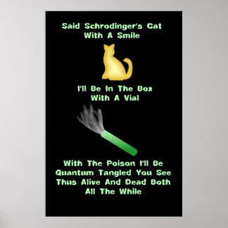 Quintilla del gato de Schrodinger Póster