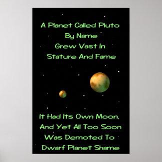 Quintilla enana de Plutón del planeta Póster