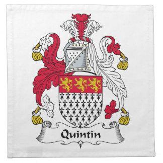 Quintin Family Crest Cloth Napkin
