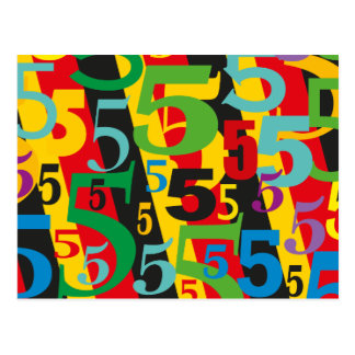 Quinto, 55.o o 50.o cumpleaños o aniversario #5 tarjetas postales