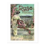 Quinto anuncio color de rosa anual del festival tarjeta postal