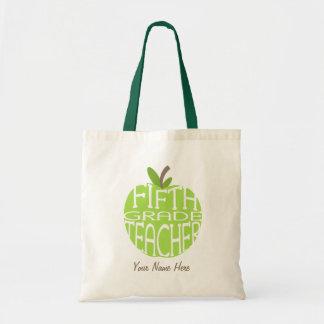 Quinto bolso del profesor del grado - Apple verde Bolsa Tela Barata