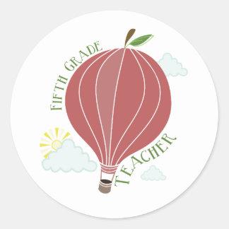 Quinto globo Apple del aire caliente del profesor Pegatina Redonda