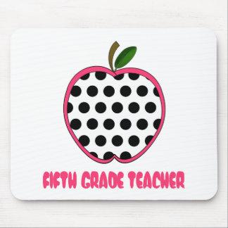 Quinto lunar Apple del profesor del grado Alfombrillas De Ratón