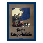 Quinto préstamo de la guerra del austriaco (lona) posters