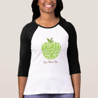 Quinto profesor del grado - Apple verde Playera