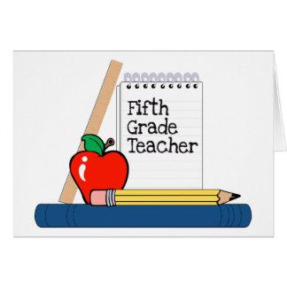 Quinto profesor del grado (cuaderno) tarjeta