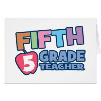 Quinto profesor del grado felicitacion