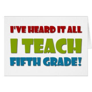 Quinto profesor del grado felicitación