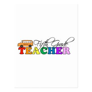 Quinto profesor del grado tarjeta postal
