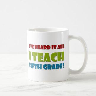 Quinto profesor del grado tazas