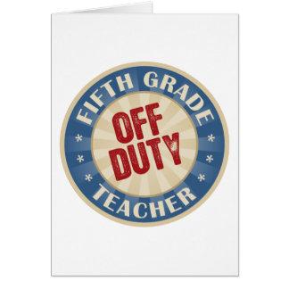Quinto profesor fuera de servicio del grado felicitaciones