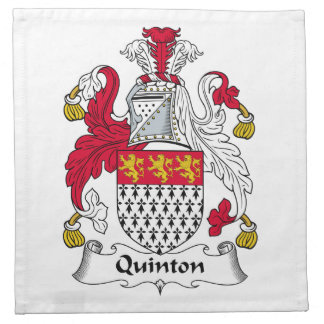 Quinton Family Crest Cloth Napkins