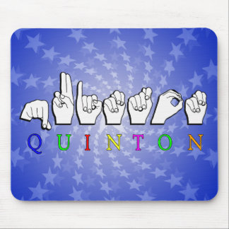 QUINTON   NAME ASL FINGER SPELLED SIGN MOUSE PAD